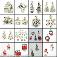 Christmas Charms Tree Snowman Snowflake Jingle Bell Santa Choose Designs