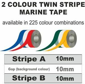 30mm wide 24m Roll 2 Colour 2 Stripe Marine Tape Multi Colour StripingA33Z33B33