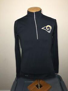 Nike DriFit Los Angeles Rams 1/4 Zip Running Pullover Thumbholes Women's Size M