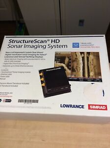 Lowrance structure scan hd with transducer new in box. Gen 2