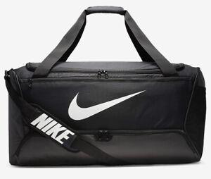 Nike Brasilia Duffel Bag Gym Club Training Sports Football  New 61L Black Medium