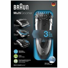 Braun MG5090 Mens Multi Groomer Wet&Dry Shaver Rechargeable Styler Beard Trimmer