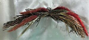 """EUC Grapevine Swag in Autumn Colors, Fuzzy Grass, Metal Ring for Hanging, 18""""W"""