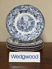 Antique Wedgwood CHINESE BLUE Etruria Luncheon Plates ~ Set of 5