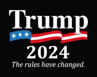 TRUMP 2024 Humorous Mens Embroidered T-Shirt S-6X, LT-4XLT President Donald New