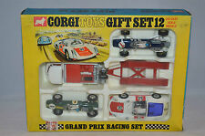 Corgi Toys Giftset 12 Gift set 12 Grand Prix Racing set 99% mint in box Superb