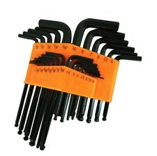25 Piece Ball End Long Arm Hex Key Allen L Wrench Driver SAE & Metric Set New