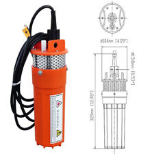 "12V Dc Submersible Deep Well Solar Water Pump With Filter 4"" 230 Ft Pool Pond"