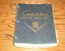 Original 1950 Cadillac Master Parts List 14th Edition Manual Book 50