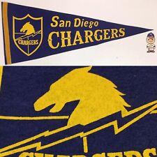 1960s Vintage San Diego Chargers Los Football AFL American  Pennant 11.5x28.5