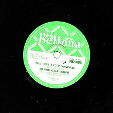 "Rare folk irlandés 78 Bridie Gallagher ""la chica de Donegal"" Beltona ser 2696 ex"