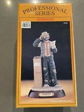 Emmett Kelly Jr. Accountant Figurine Professional Series Flambro # 9583 1990