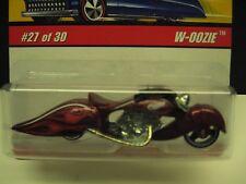 2007 Hot Wheel Classic W- Oozie Motorcycle - Burgundy & Flames #27