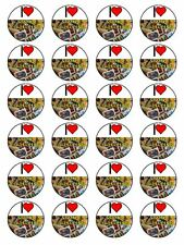 "x24 1.5"" I Love Stamp Collecting Birthday Cupcake Topper On Edible Rice Paper"