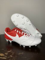 Size 10.5 - Nike Premier II FG - University Red/white 917803-611 soccer cleats