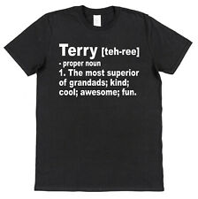 Personalised Superior Grandad Dictionary Definition T-Shirt Any Name Printed