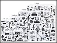 FARMHOUSE FAVORITES Design Flat Paper Merchandise Bags Choose Size & Pack Amount