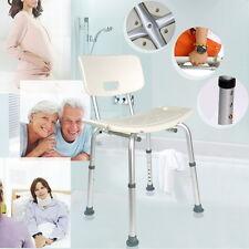 Aluminium Bath Shower Seat Stool Chair Adjustable Mobility Disability Aid UK SUM