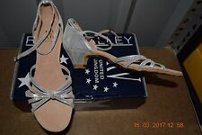 Silver hologram Roch Valley Ilenha ballroom shoes - size 5