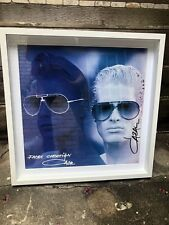 2 Autographed Signed Cazal Glasses Poster Prints Limited Edition Cari Zalloni
