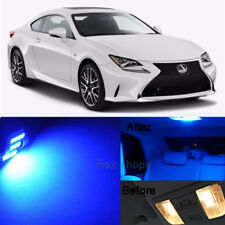 15pcs LED Blue Light Interior Package Kit for  2014-2015 Lexus Is250 Is350 KL