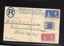 LEEWARD ISLANDS (PP1301B) KGV 3D RLE UPRATED CORONATION 1D+2 1/2D TO USA 1937