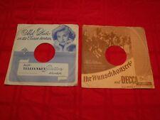 "2 German 78 RPM Paper Sleeves Telefunken Gitta Lind Decca Horst Winter 10"""
