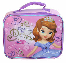 Lunch Bag Insulated + Shoulder Strap Disney Princess Sofia the First Purple New