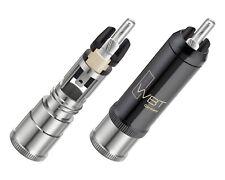 4 x WBT-0152 Ag nextgen Cinchstecker + TORX RCA connectors 0152Ag bis 10,8mm