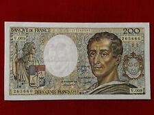 Billet 200 Fr Montesquieu 1982 Fay 70/2 Alph V.009 SUP / XF !!