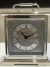 London Clock Company Silver Finish Carriage Clock 03036
