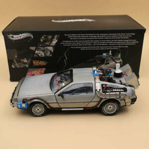 1/18 Hot Wheels Elite Back To The Future Time Machine Diecast Edition BCJ97 Gift