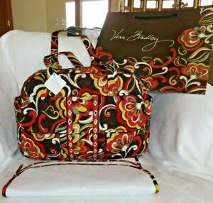 VERA BRADLEY  Baby Diaper Bag Tote & Changing Pad - Puccini  NWT & Free Gift Bag