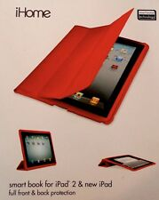 "**9.5"" x 7.5"" iHome by Lifeworks Technology Smart Book Flap Case iPad IH-IP1103G"