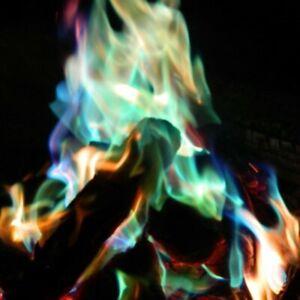 MYSTICAL FIRE 20 pkts - Magical Colourful Flames Camping Fun Rainbow Campfire