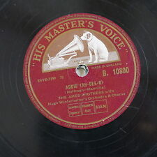 78rpm THE AMES BROTHERS addio / the naughty lady of shady lane