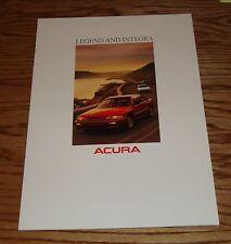 Original 1989 Acura Legend & Integra Sales Brochure 89