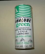 New listing Vintage Aerospace Techniques Analube Green Unopened Advertising Oil Can 16oz New