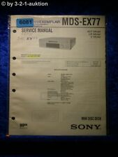 Sony Service Manual MDS EX77 Mini Disc Deck (#6081)
