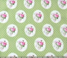 Tanya Whelan Sunshine Roses Old Time Rose Green Fabric BHY