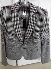 LIDAY BADAY BLACK AND WHITE WOMEN'S WOOL BLAZER JACKET SIZE 8 - $1295