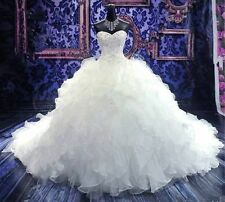 New white/ivory wedding dress custom size 2-4-6-8-10-12-​14-16-18-20-22​-24-26