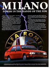 1987 ALFA ROMEO MILANO  ~  CLASSIC ORIGINAL PRINT AD