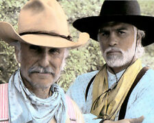 "ROBERT DUVALL TOMMY LEE JONES LONESOME DOVE 1989 8x10"" HAND COLOR TINTED PHOTO"