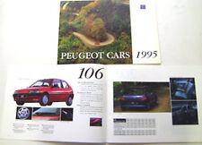 Peugeot 605 405 306 205 106 Original 1994-95 UK Sales Brochure Pub. No. M/CP0292