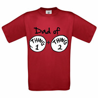 dr seuss cat in the hat DAD OF  thing 1 and  thing 2 TWINS BABY