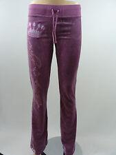 Christian Audigier Women's Velour Pants Lavender XS style 0012P