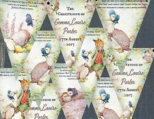 3m Personalised Beatrix Potter Jemima Puddleduck Bunting/Banner with Ribbon