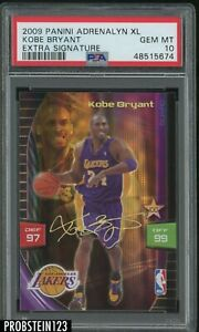 2009-10 Panini Adrenalyn XL Extra Signature Kobe Bryant Lakers HOF PSA 10