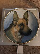 Veneto Flair German Shephard Plate In Box With Coa